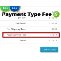 Payment Type Fee Module (1.5.x/2.0.x)