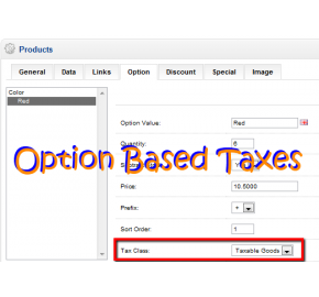 Option Based Taxes (OpenCart)