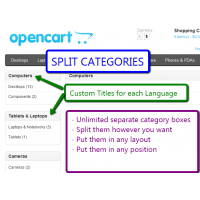 [1.5.x] Split Categories (OpenCart 1.5.x only)