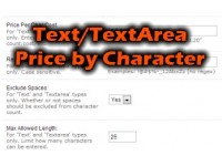 Text/Textarea Options Price per Character Pro (1.5.x/2.x)